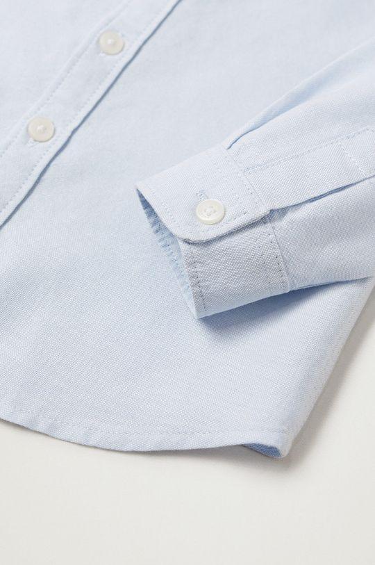 Mango Kids - Koszula dziecięca OXFORD blady niebieski