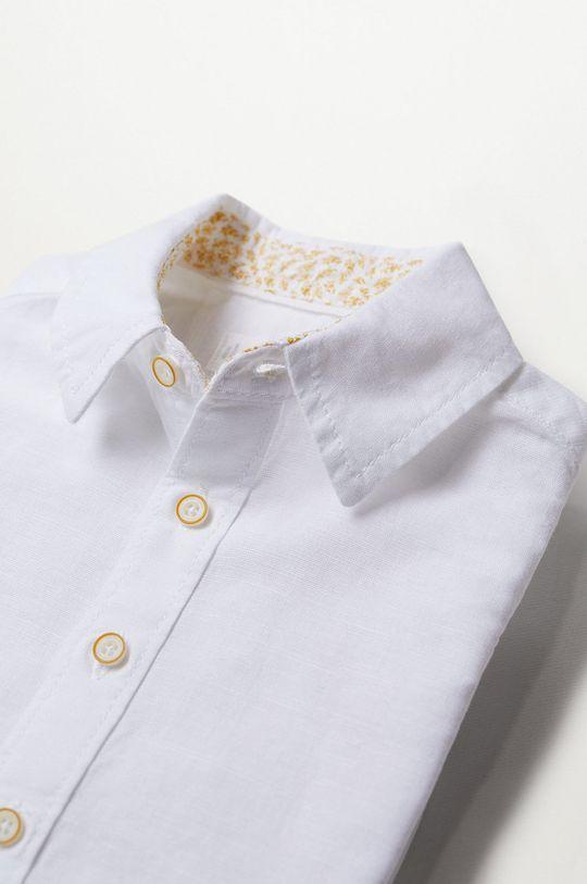 Mango Kids - Detská košeľa ABETO  82% Bavlna, 18% Ľan