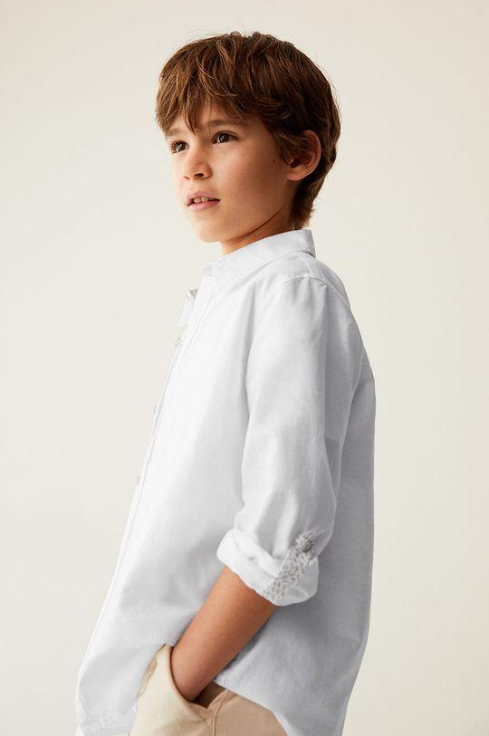 biały Mango Kids - Koszula dziecięca ABETO Chłopięcy