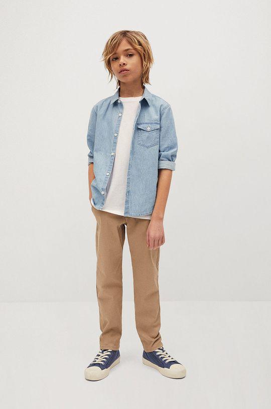 Mango Kids - Koszula bawełniana dziecięca Daniel 110-164 cm fioletowy