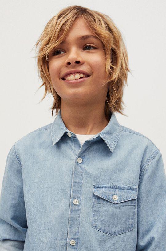 Mango Kids - Koszula bawełniana dziecięca Daniel 110-164 cm 100 % Bawełna