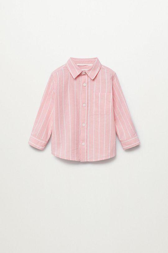 różowy Mango Kids - Koszula dziecięca LUKA Chłopięcy
