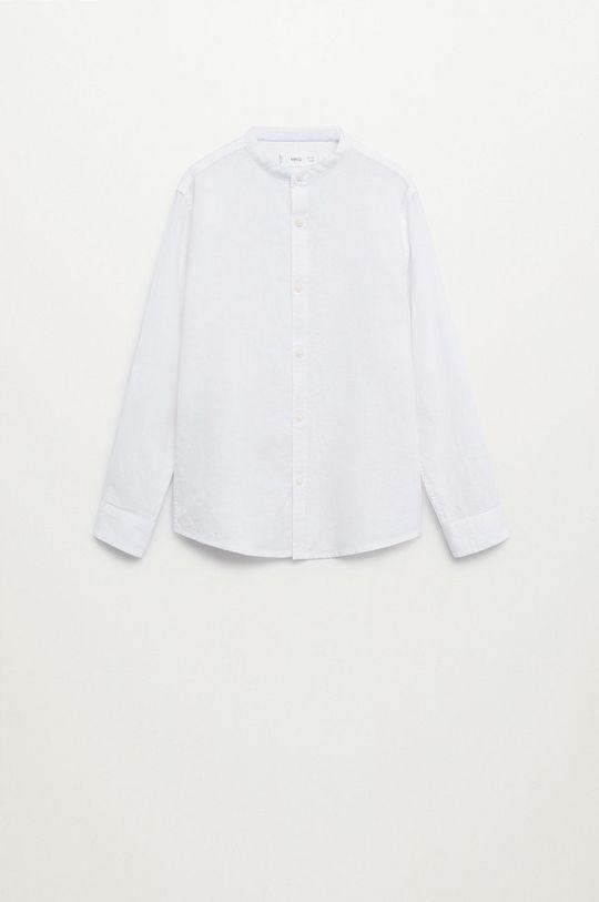 biały Mango Kids - Koszula dziecięca Albert 110-164 cm Chłopięcy
