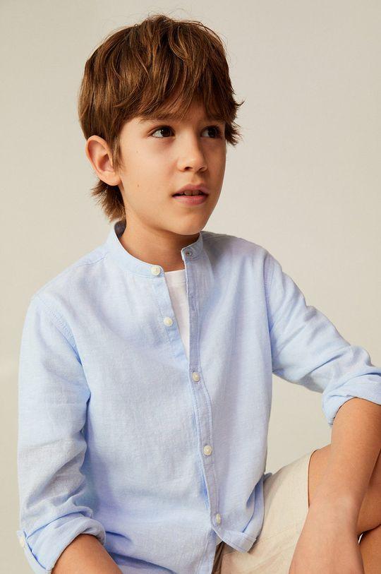 blady niebieski Mango Kids - Koszula dziecięca Albert 110-164 cm Chłopięcy
