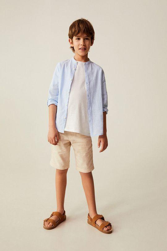 Mango Kids - Koszula dziecięca Albert 110-164 cm blady niebieski