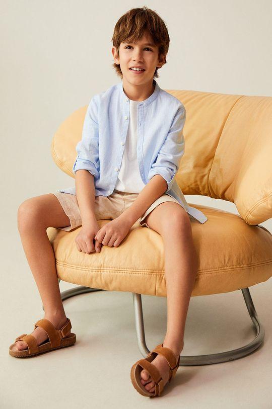 Mango Kids - Koszula dziecięca Albert 110-164 cm 45 % Bawełna, 55 % Len