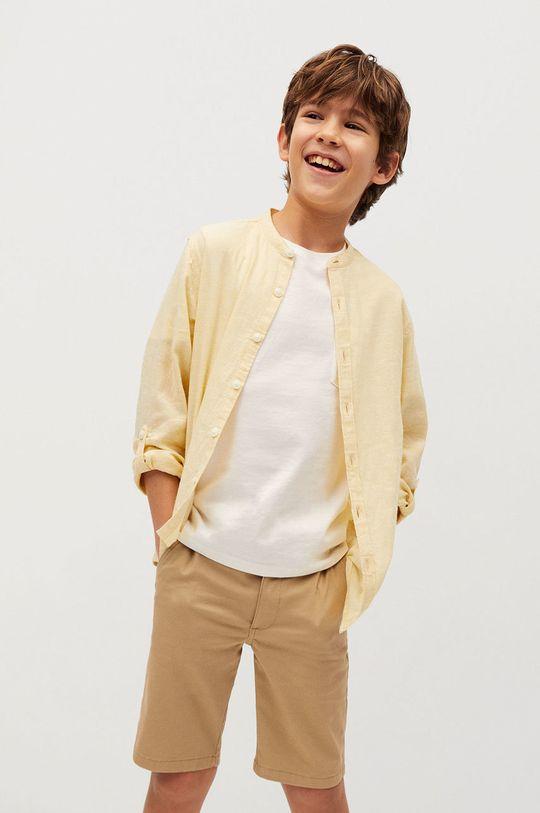 żółty Mango Kids - Koszula dziecięca Albert 110-164 cm Chłopięcy