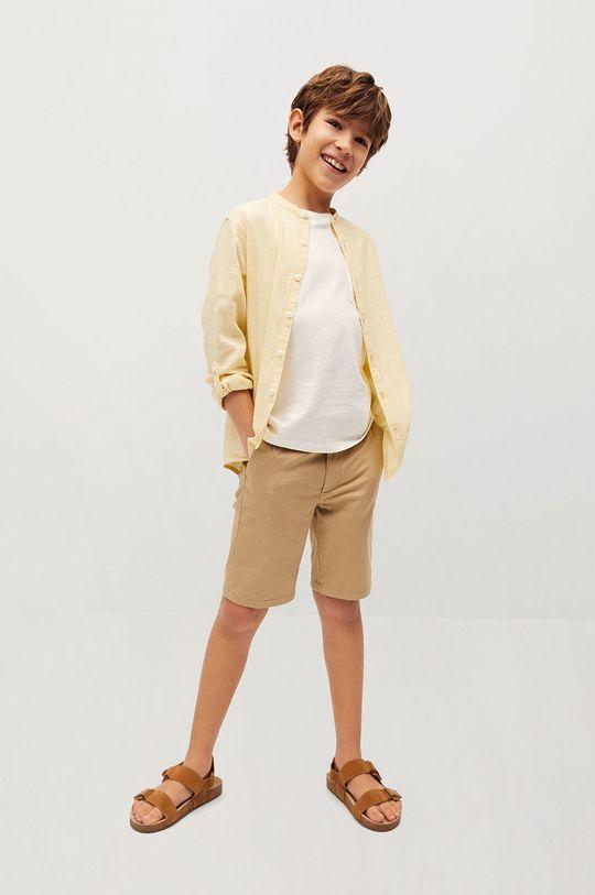 Mango Kids - Koszula dziecięca Albert 110-164 cm żółty