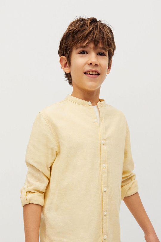 żółty Mango Kids - Koszula dziecięca Albert 110-164 cm