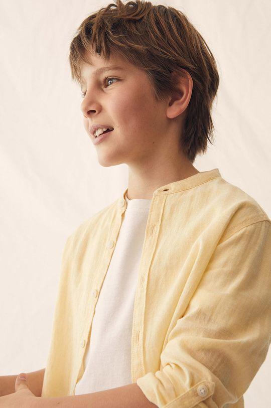 Mango Kids - Koszula dziecięca Albert 110-164 cm Chłopięcy