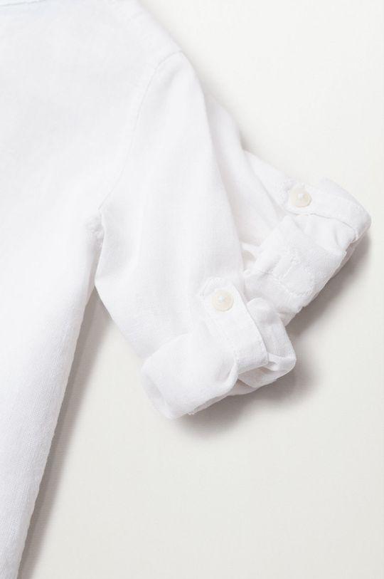 Mango Kids - Koszula dziecięca Albertb 80-104 cm biały