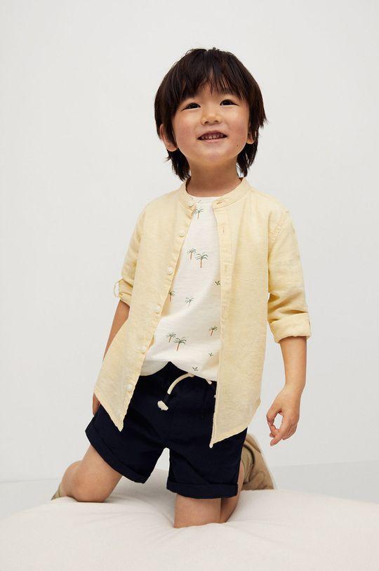 żółty Mango Kids - Koszula dziecięca Alberto-I 80-104 cm Chłopięcy