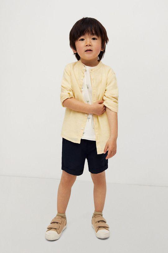 Mango Kids - Koszula dziecięca Alberto-I 80-104 cm żółty