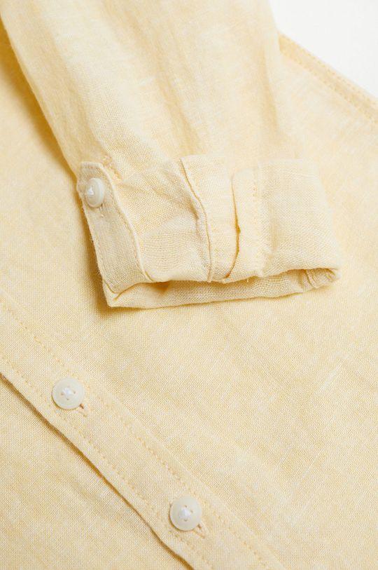 Mango Kids - Koszula dziecięca Alberto-I 80-104 cm 45 % Bawełna, 55 % Len