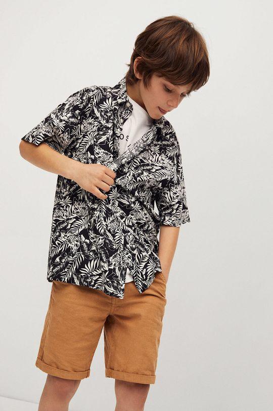 čierna Mango Kids - Detská košeľa Palmon 110-164 cm Chlapčenský