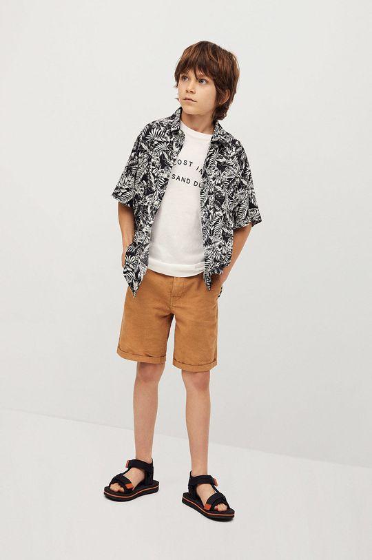 Mango Kids - Detská košeľa Palmon 110-164 cm čierna