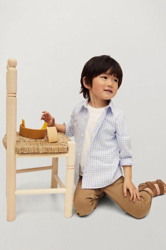 biały Mango Kids - Koszula bawełniana dziecięca Cedricb 80-104 cm Chłopięcy