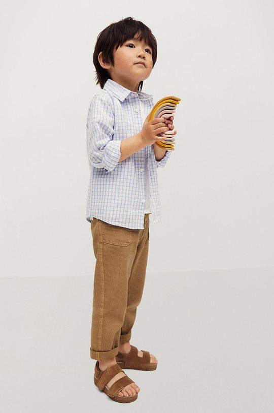 Mango Kids - Koszula bawełniana dziecięca Cedricb 80-104 cm biały