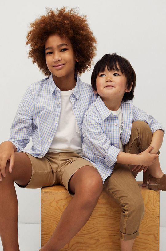 biały Mango Kids - Koszula bawełniana dziecięca Cedricb 80-104 cm