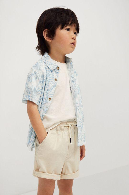 biela Mango Kids - Detská košeľa Islab 80-104 cm Chlapčenský