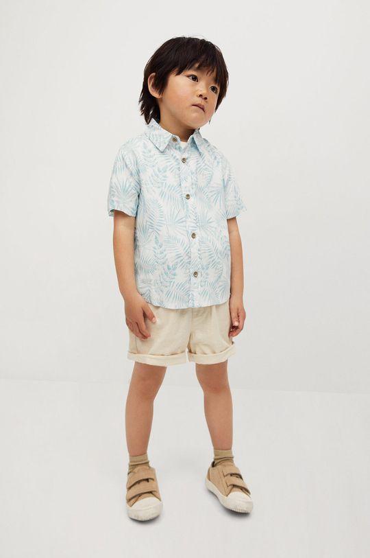 Mango Kids - Detská košeľa Islab 80-104 cm biela