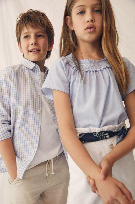 Mango Kids - Koszula bawełniana dziecięca Cedric 110-164 cm biały