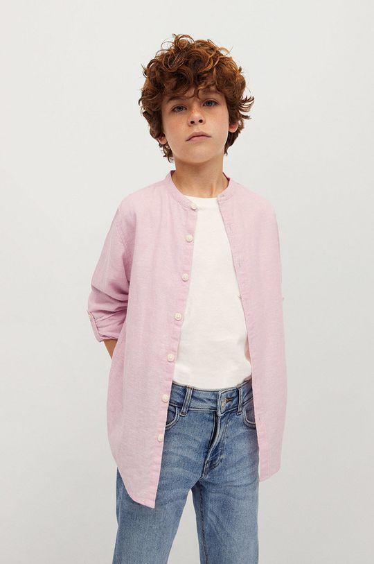 różowy Mango Kids - Koszula dziecięca Alberto-I 110-164 cm Chłopięcy