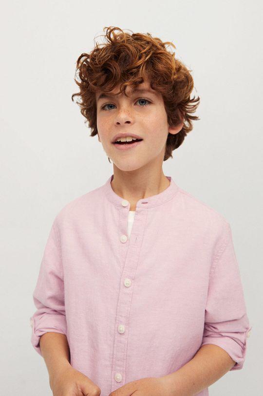 Mango Kids - Koszula dziecięca Alberto-I 110-164 cm 45 % Bawełna, 55 % Len