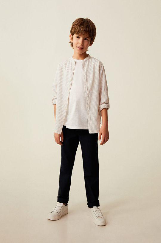 Mango Kids - Koszula dziecięca Form 110-164 cm cielisty