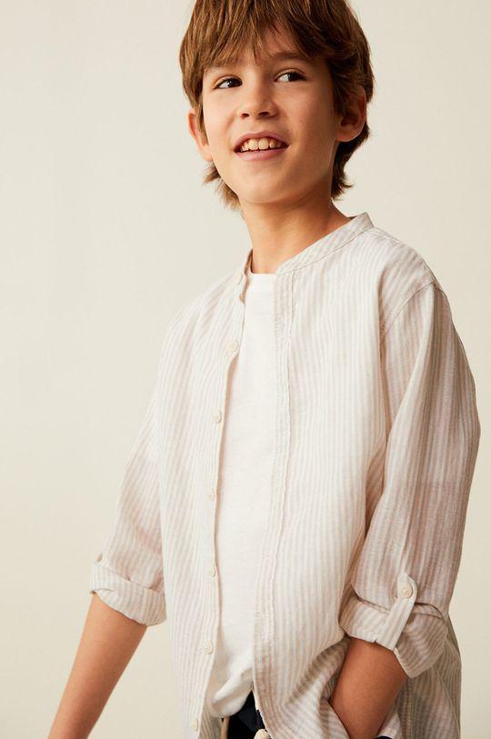 Mango Kids - Koszula dziecięca Form 110-164 cm 45 % Bawełna, 55 % Len