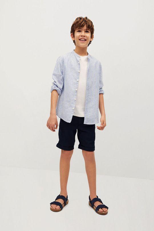 Mango Kids - Detská košeľa Form 110-164 cm modrá