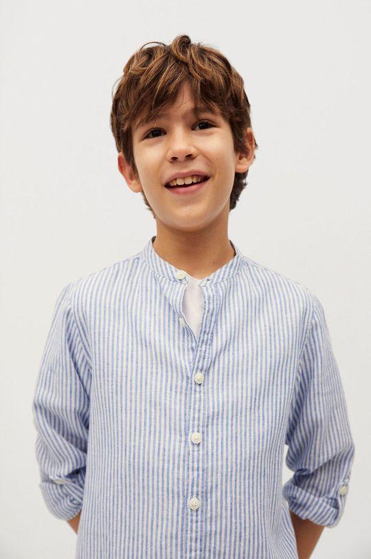 Mango Kids - Detská košeľa Form 110-164 cm  45% Bavlna, 55% Ľan