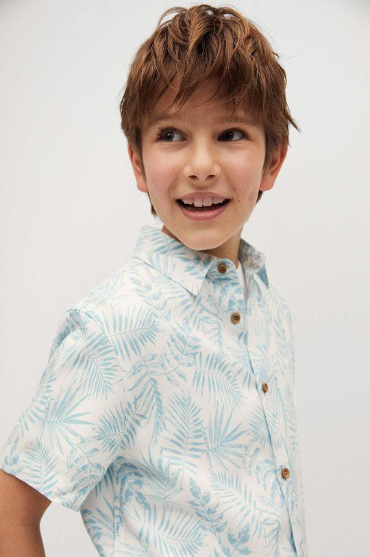 biały Mango Kids - Koszula dziecięca ISLA Chłopięcy