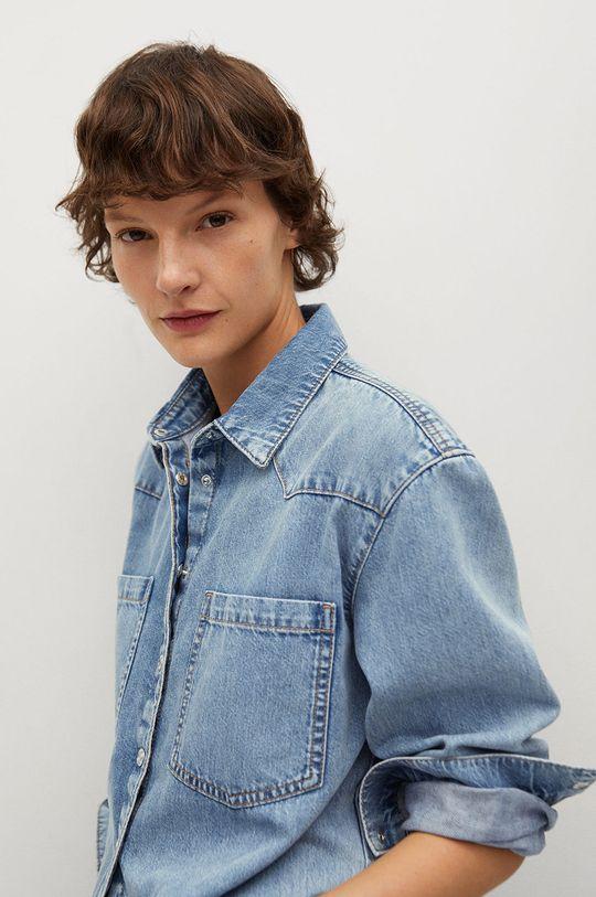 niebieski Mango - Koszula jeansowa Sira Damski