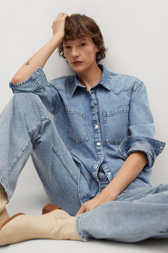 Mango - Koszula jeansowa Sira 100 % Bawełna