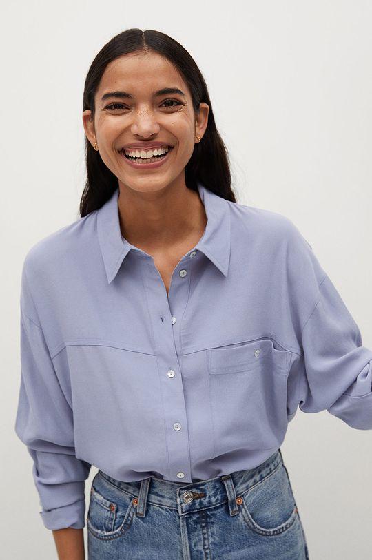 modrá Mango - Košile LEONE Dámský