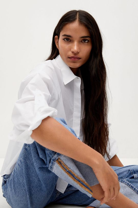 biały Mango - Koszula CROP