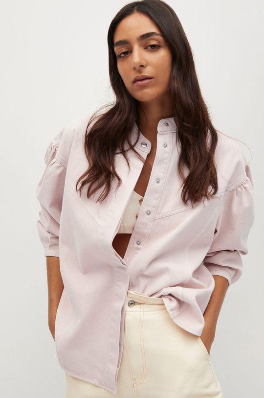 różowy Mango - Koszula jeansowa Caramel Damski
