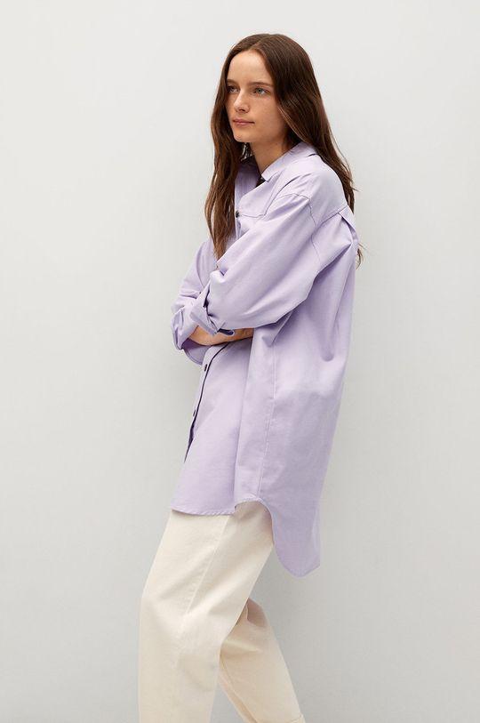 purpurová Mango - Bavlněné tričko Tana