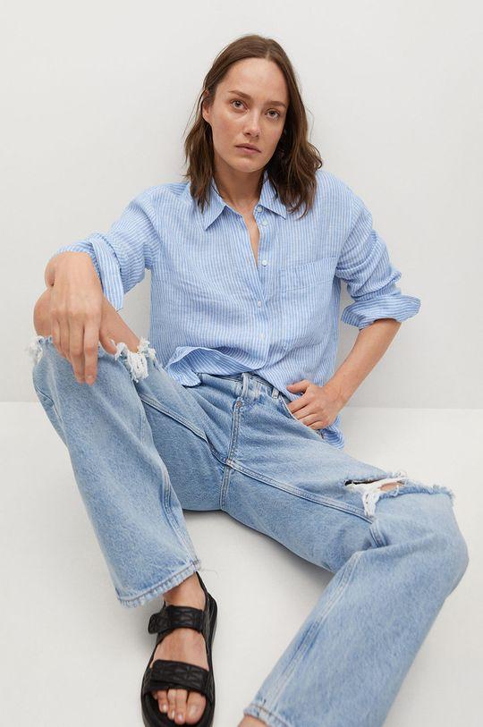 niebieski Mango - Koszula Lino