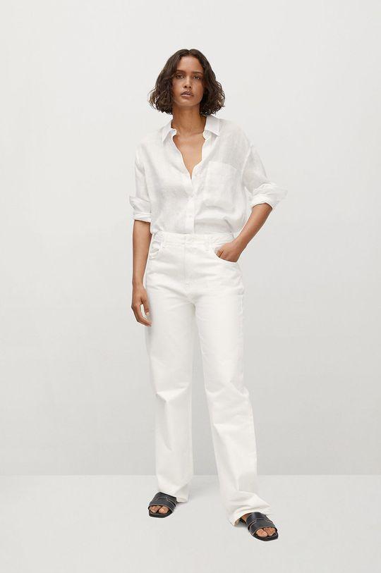 Mango - Košeľa Lino biela