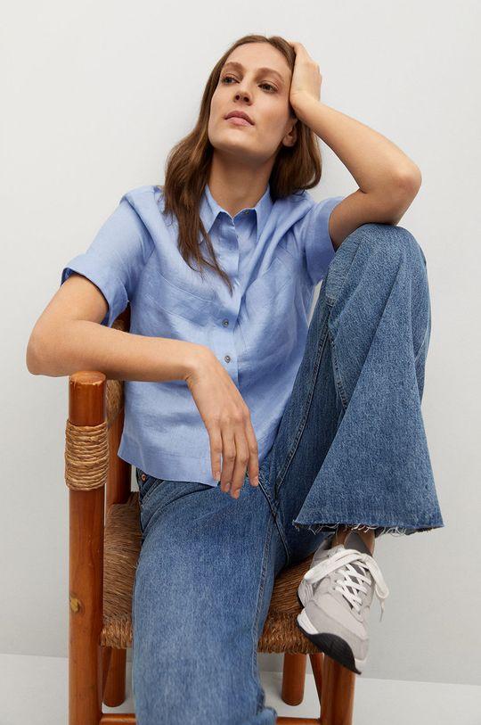 blady niebieski Mango - Koszula JENI