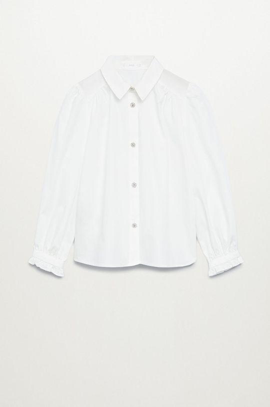 biały Mango Kids - Koszula dziecięca NIL Dziewczęcy
