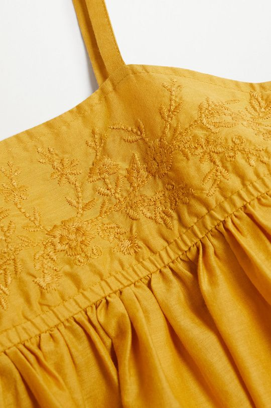 Mango Kids - Bluzka bawełniana dziecięca Maya 110-152 cm 100 % Bawełna