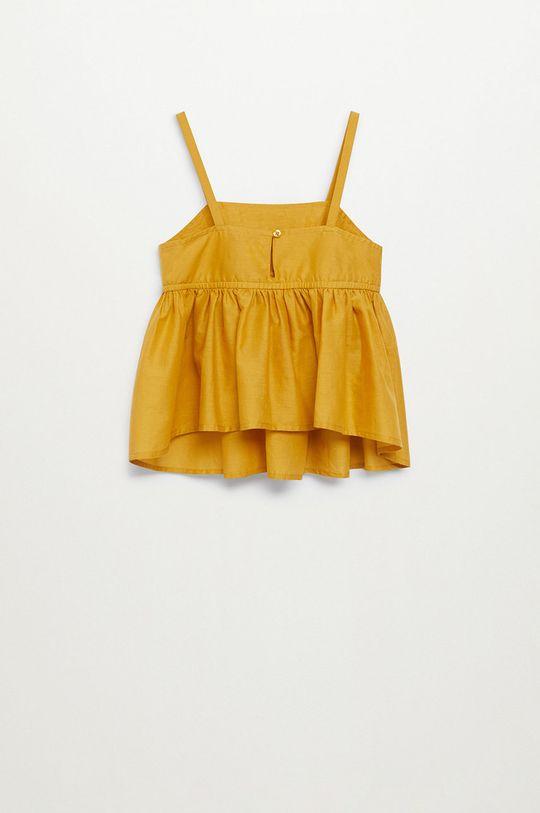 żółty Mango Kids - Bluzka bawełniana dziecięca Maya 110-152 cm