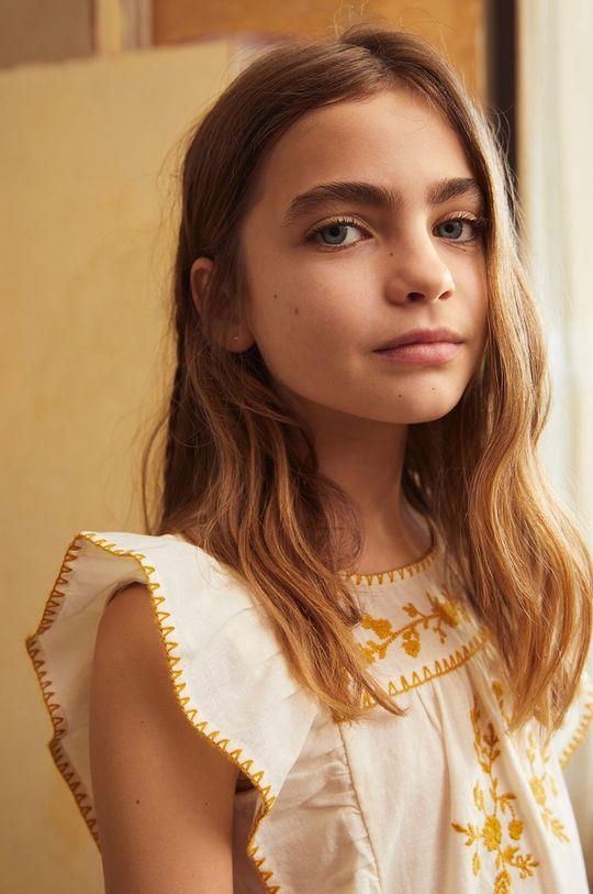 biały Mango Kids - Bluzka dziecięca Mexican 110-164 cm Dziewczęcy
