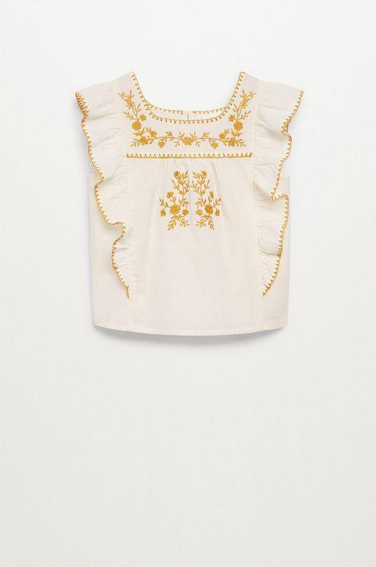 Mango Kids - Bluzka dziecięca Mexican 110-164 cm biały