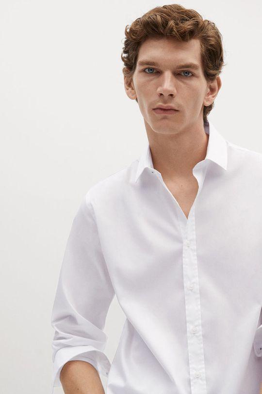 biały Mango Man - Koszula PLAY Męski