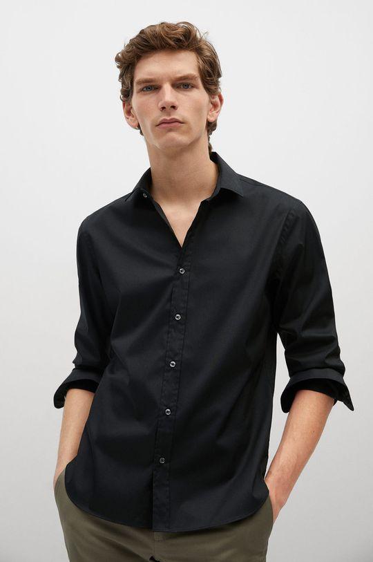 czarny Mango Man - Koszula PLAY Męski