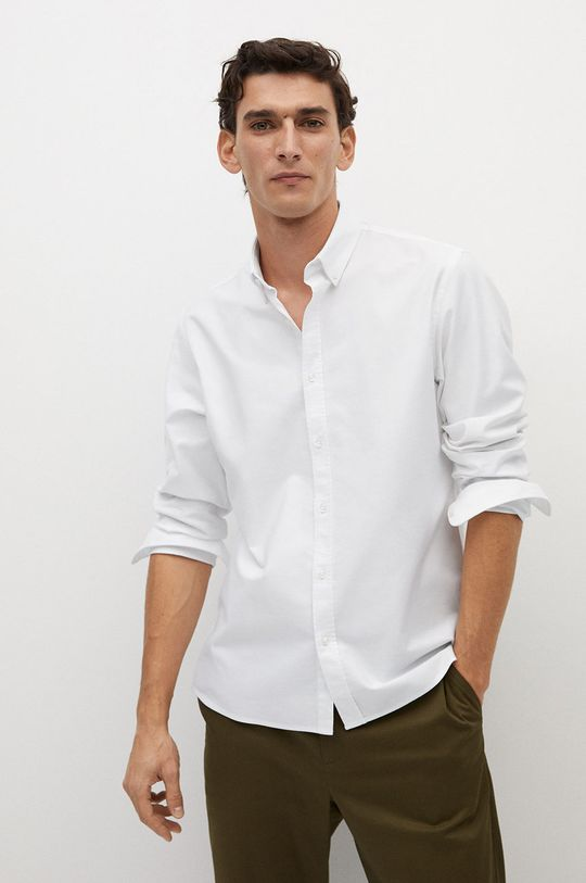 biela Mango Man - Košeľa OXFORD